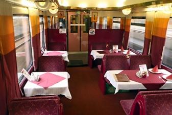 Вагон-ресторан в поездах в Чехии