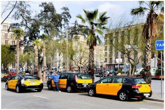 Барселона фото– Такси