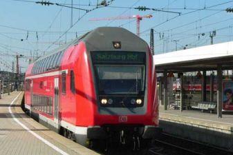 Поезд в Зальцбурге