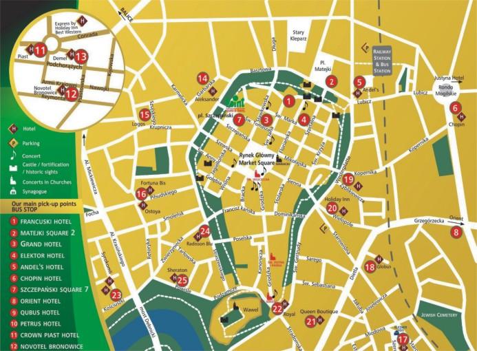 Карта Кракова С Достопримечательностями.Rar
