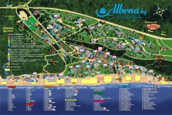 Албена фото – Схема курорта