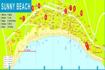 Солнечный берег фото– схема курорта