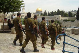 Военный патруль в Иерусалиме