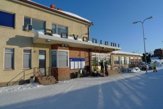 Лапландия фото– Железнодорожный вокзал в Рованиеми