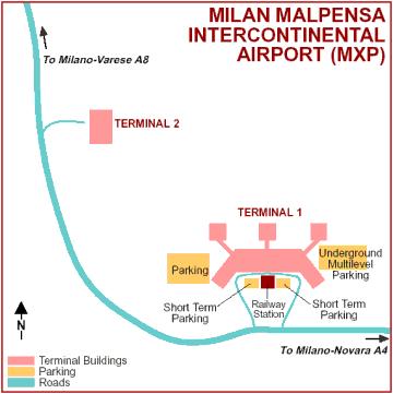 Схема аэропорта Мальпенса