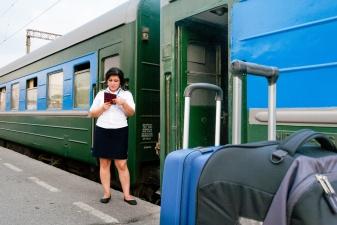 Проверка билетов на поезд