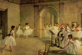 Балетный зал в опере, Эдгар Дега, 1872