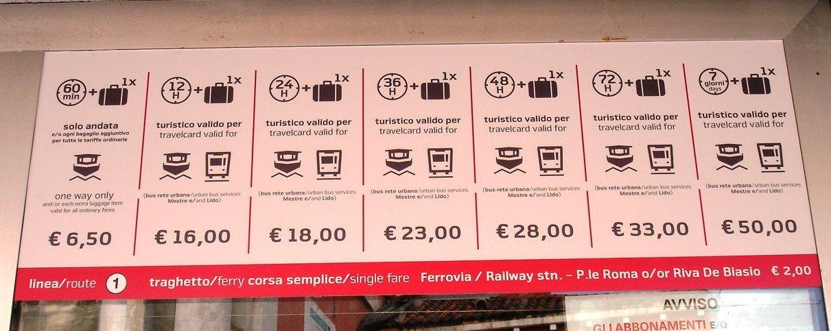 Венеция фото – тарифы на