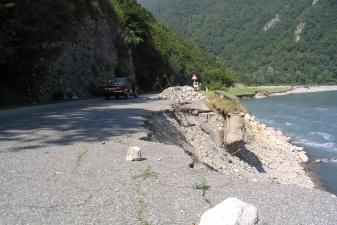 Участок горной дороги