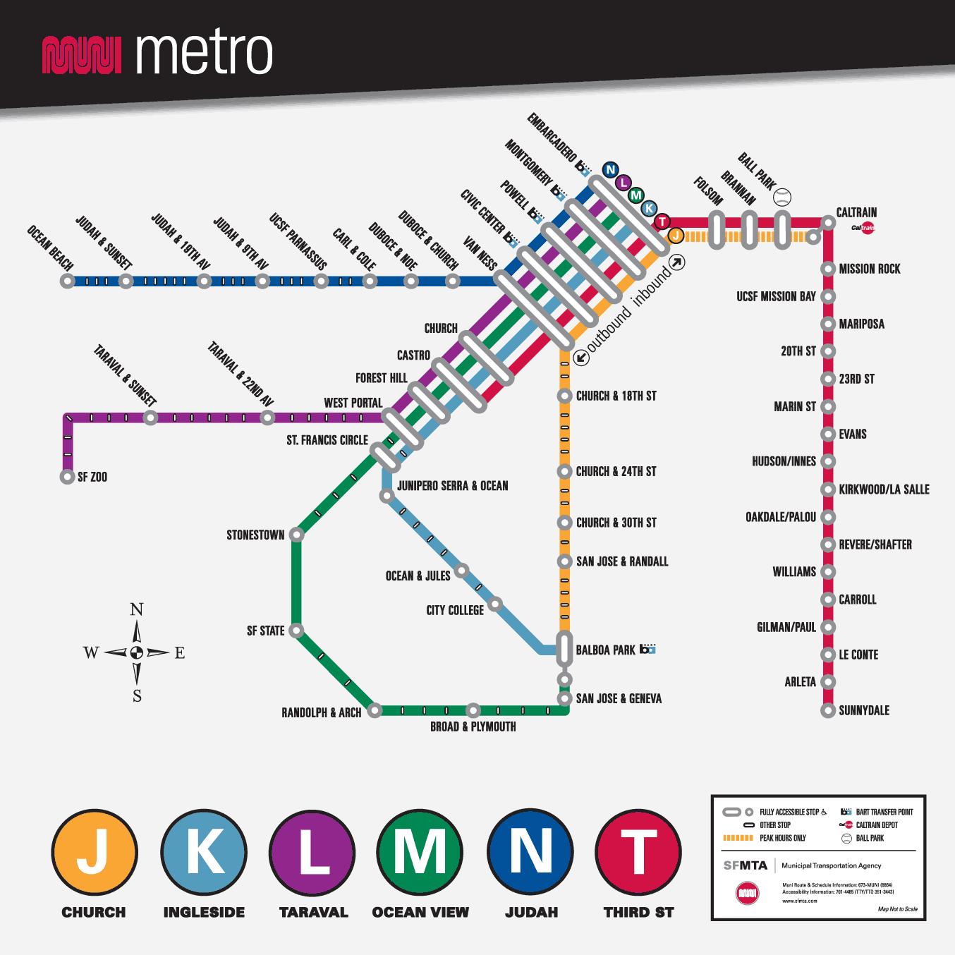 Схема метро сан-франциско