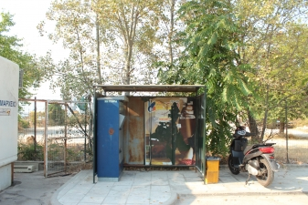 Автобусная остановка на автовокзале в Керкире