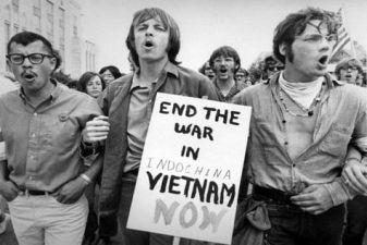 Вьетнам фото– Забастовка в США против войны во Вьетнаме