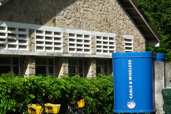 Телефонная будка на Сейшелах