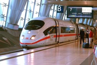 Железнодорожная станция в аэропорту Франкфурта