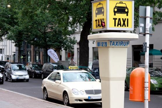 Стойка уличного таксифона