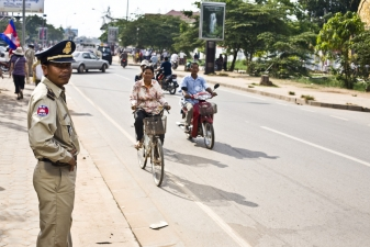 Полицейский в Пномпене