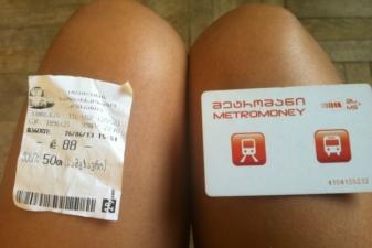 Билет на метро и автобус– справа