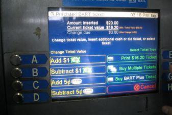 Автомат по продаже билетов на транспорт