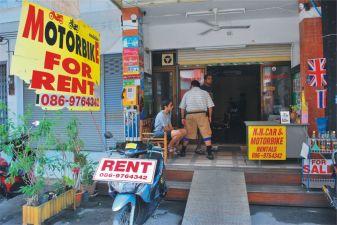 Тайланд фото – Пункт проката мотоциклов