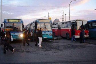 Остановка автобусов в Турции