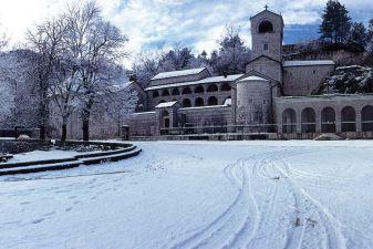 Необычно снежная зима в Цетине