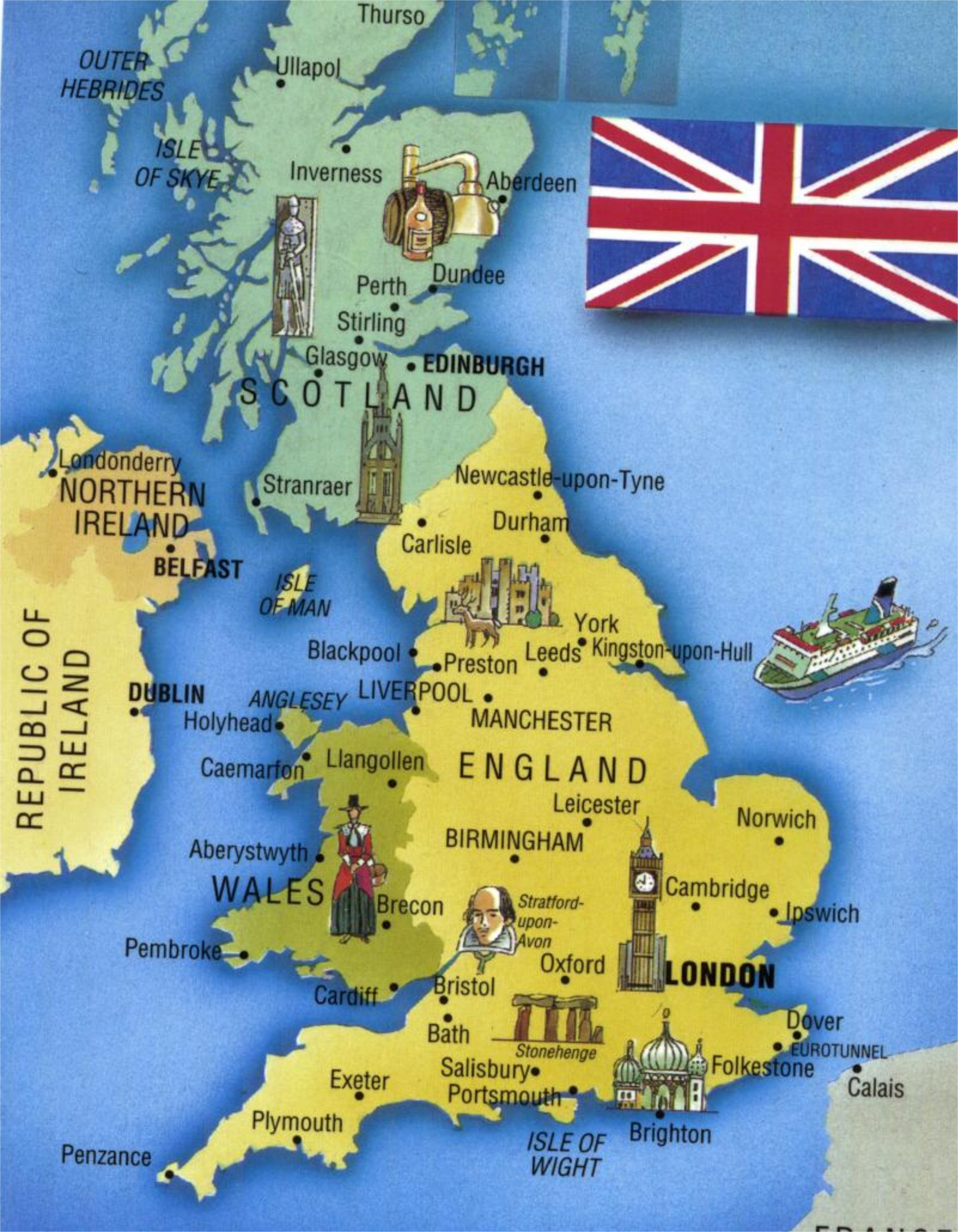 Туристическая карта англии