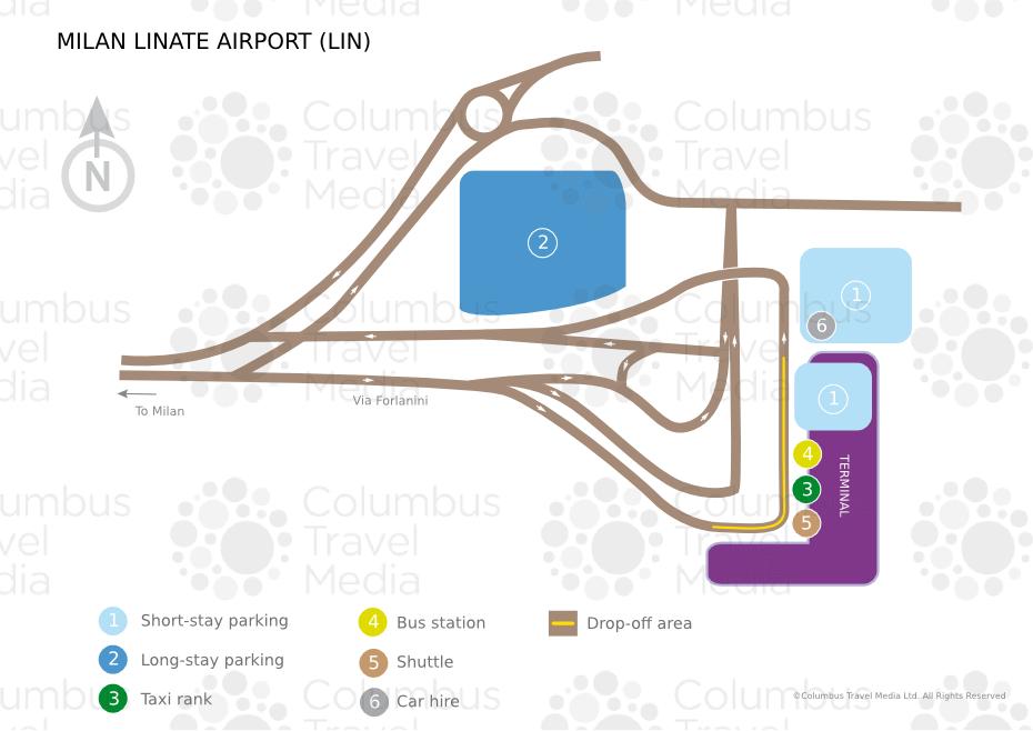 Схема аэропорта «Линате»