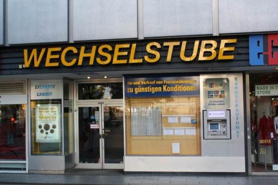 Обменный пункт в Берлине