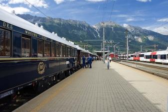 Поезд на станции Инсбрука