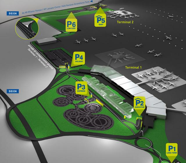 Схема парковок в терминалах