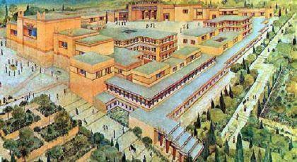 История Греции – схема Кносского дворца