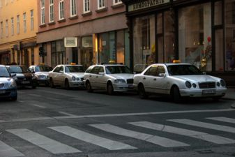 Такси на улицах Граца