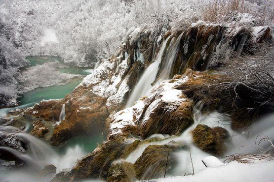 Плитвицкие озера зимой