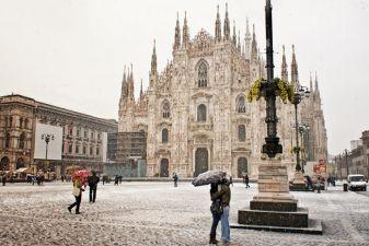 Зима в Милане