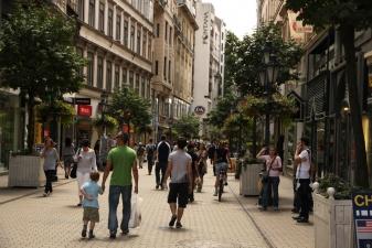 Торговая улица в Будапеште