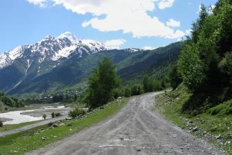 Сельская дорога в Абхазии