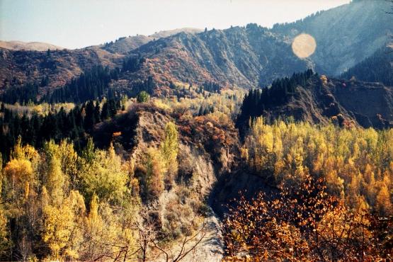 Осень в казахской степи