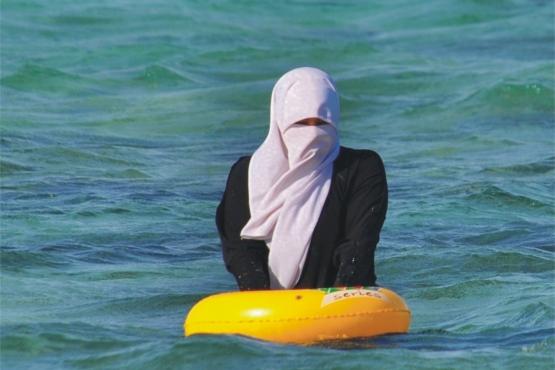 Женский пляжный отдых по-арабски