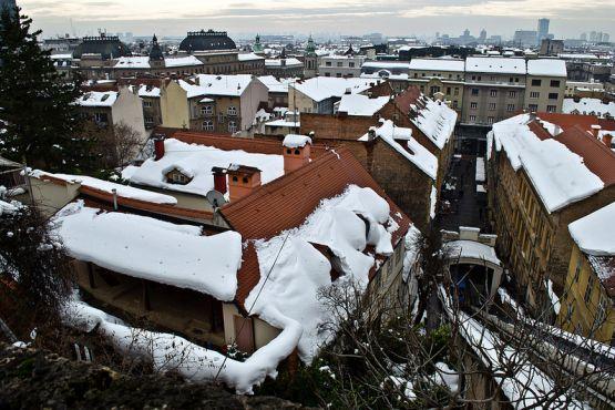 Зимний Загреб