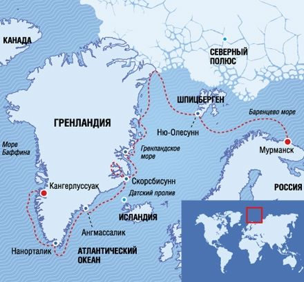 Пример тура от компании Poseidon Expeditions
