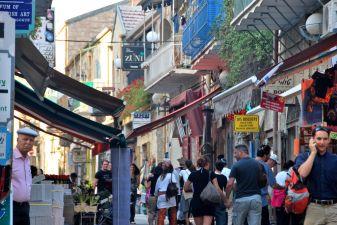 Торговая улица в Иерусалиме