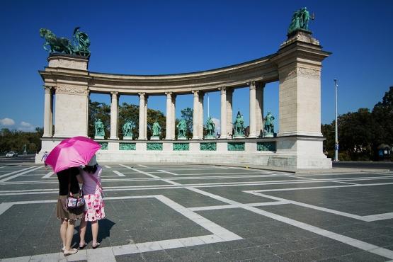 На Площади Героев в Будапеште
