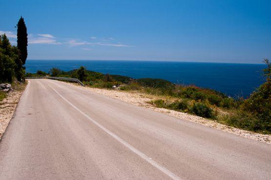 Дорога на хорватском побережье
