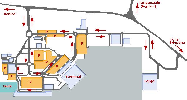 Схема аэропорта в Венеции