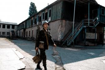 Российский солдат в Абхазии