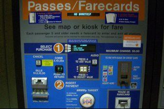 Автомат по продаже билетов в Вашингтоне
