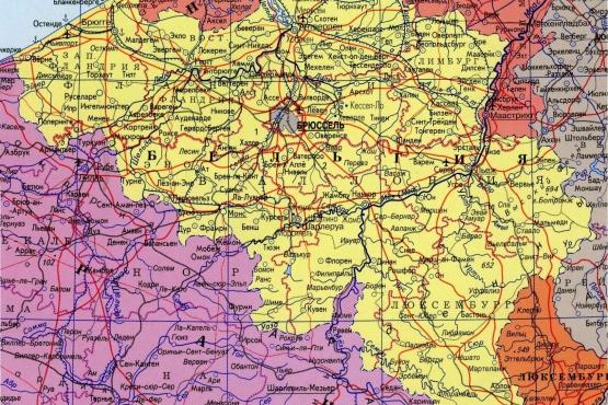 русская карта Бельгии