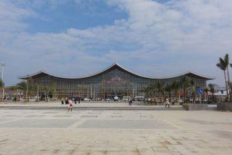 Вид на воокзал в городе Санья