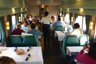 Вагон-ресторан в поездах США