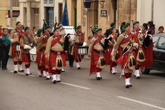 Парад мальтийских скаутов